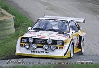 "Quattro Kalender 2018 ""European Rallye Highlights"""