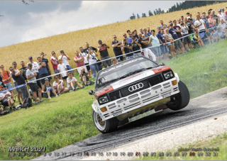 """Quattro Kalender 2021 """"without a single racing day 2021"""""""